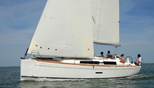 Charter Monohull Sailboat In Aegean Sea