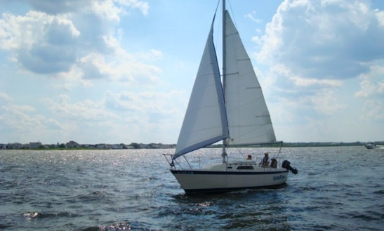 Charter Sailboat On Barnegat Bay