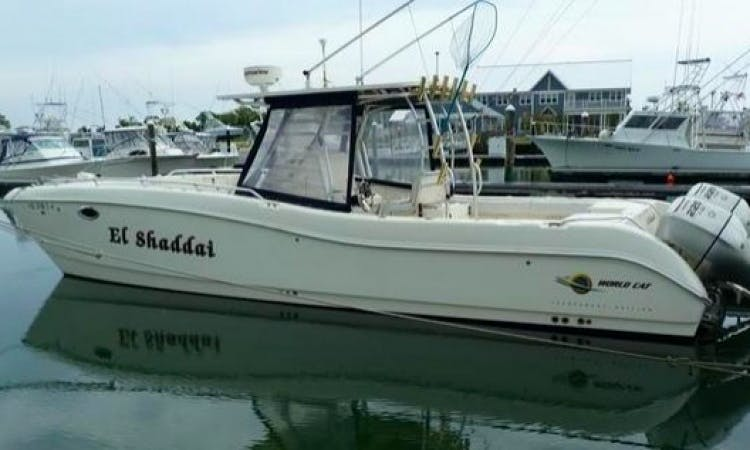 """34ft """"El Shaddai"""" Center Console Boat Fishing Charter in Rehoboth Beach, Delaware"""
