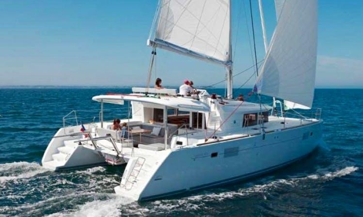 "Charter ""Gypsy Princess"" 45' Catamaran in Caribbean"