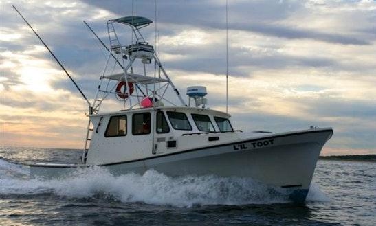 35ft Sportfisherman Boat Charter In Narragansett, Rhode Island