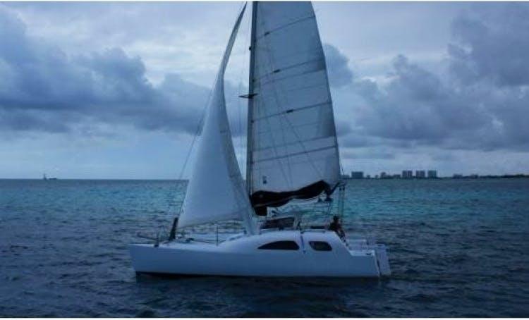 Discover Cancún Aboard The 38' Cruising Catamaran
