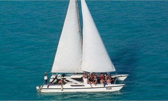 Private Sunset Tours In Cancún Aboard 42ft Cruising Catamaran