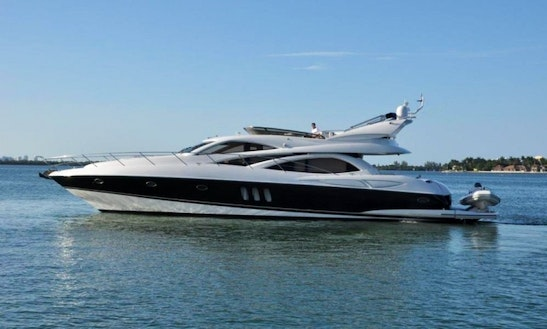 72' Sunseeker Manhattan Yacht Charter In Miami Beach