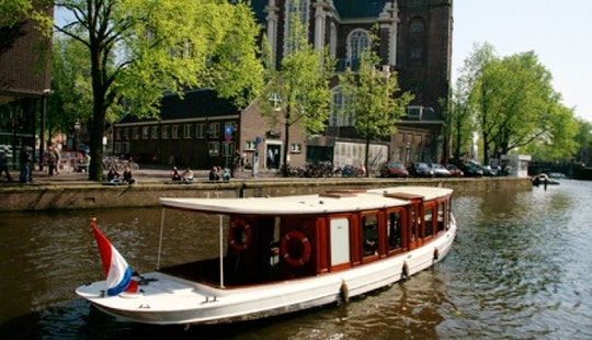26ft Ondine Canal Boat Rental In Amsterdam, North Holland