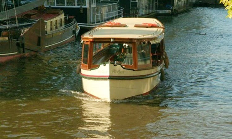 "38ft ""Old Queen"" Canal Boat Rental in Amsterdam, North Holland"