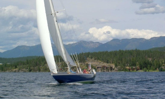 Day Charter Sail On 50' Q Class Racing Sloop In Bigfork, Montana