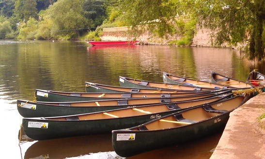 2 Person Canoe On The River Wye