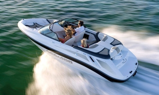 18ft Sea-doo Utopia Deck Boat Rental In Portland, Oregon