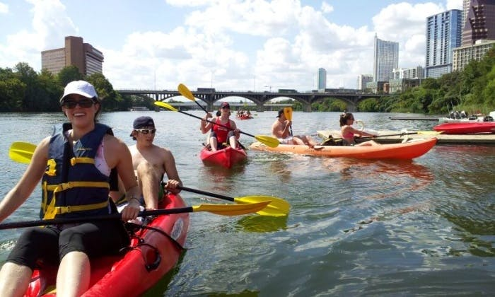 Kayak and SUP Rental on Lady Bird Lake Downtown Austin