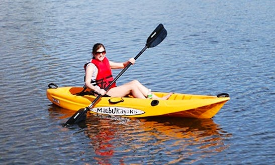 Sit-on-top Malibu Mini X Kayak Rental In Elephant Butte, New Mexico