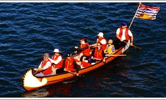 25' Clipper Voyageur Canoe Rental In Winnipeg, Canada For 8 Person