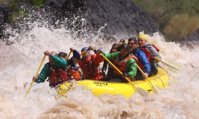 Whitewater Rafting on a 14' Paddle Raft on the Colorado River