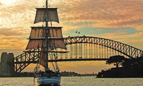 Shared Tall Ship Dinner Cruise In Sydney