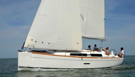 Hit The Water In A 34' Dufour Grand'large 335 Cruising Monohull Charter For 6 Persons In Hisarönü, Turkey