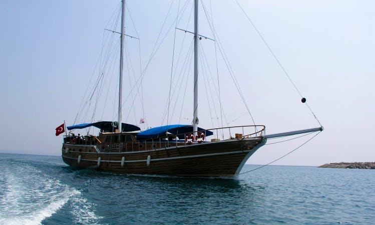 Enjoy a Gulet Cabin Charter in Antalya, Turkey