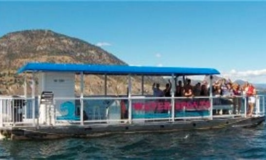 Rent 42' Party Barge On Okanagan Lake In Bc Canada