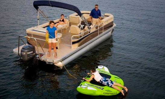 Rent A 24'  Pontoon, Ski And Tubes On Kentucky Lake