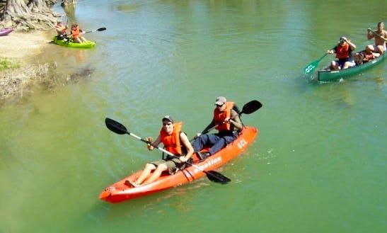 Tandem Kayak Rental In Spring Branch, Texas
