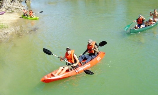 Tandem Kayak Rental In Spring Branch, Texas