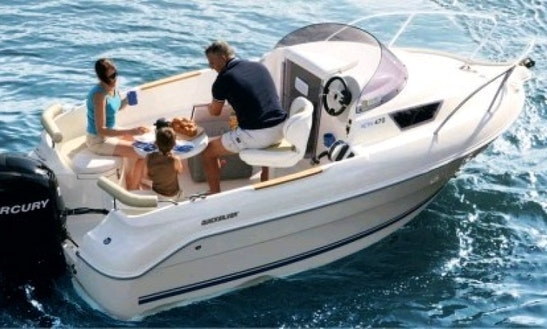 Rent 15' Quicksilver Cuddy Cabin Boat In Cogolin, France
