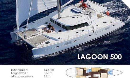 2008 Lagoon 500 Cruising Catamaran Charter In Olbia