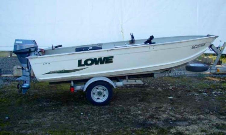 14ft Lowe Deep Hull Aluminum Boat Rental in Vancouver, British Colu