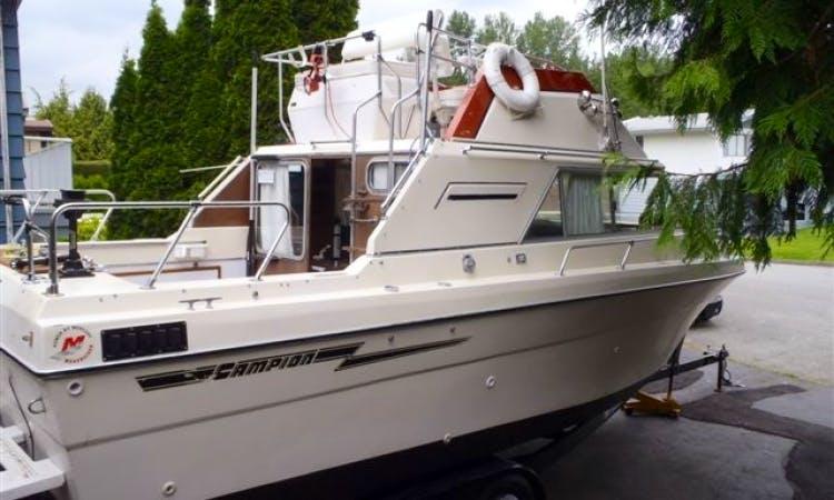 26ft Campion Toba Sportfisherman Boat Rental in Vancouver, British Columbia