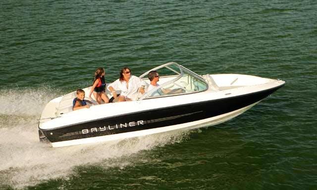 Rent 17' Bayliner Powerboat in Edmonton