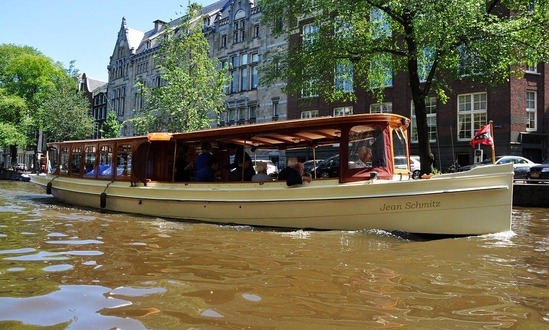 "Private ""Jean Schmitz"" Canal Boat Rental in Amsterdam, Netherlands"