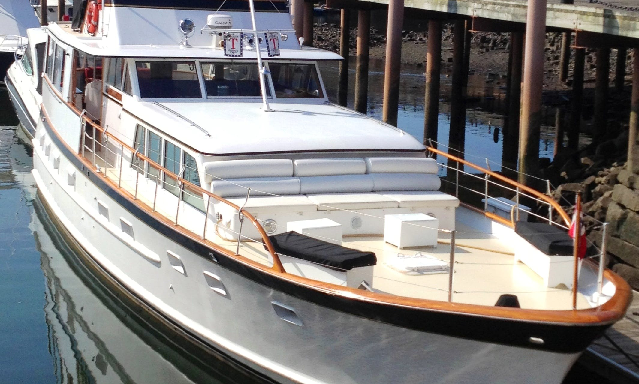 Charter a 64' Classic Berger Motor Yacht in Boston (up to 43 guests)