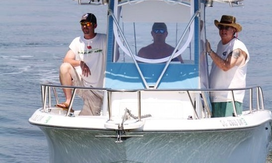 30ft Sport Fisherman Boat Fishing Charter In Edisto Island, South Carolina