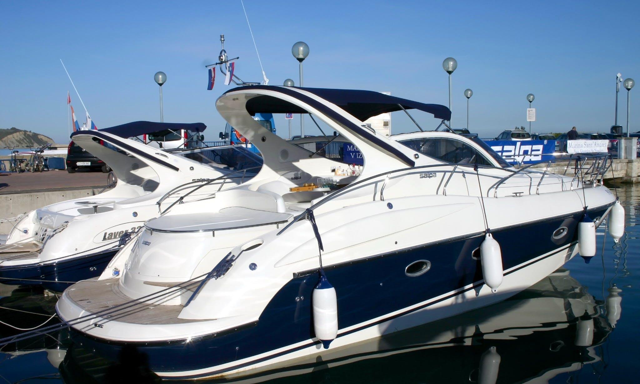 Salpa 38.5 Motor Yacht Rental in Sukošan, Croatia