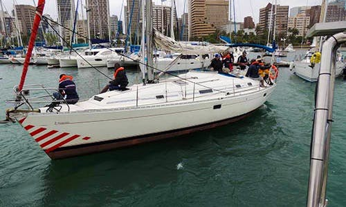 "Charter a 38ft ""Natasha"" Beneteau Sailboat in Durban, South Africa"