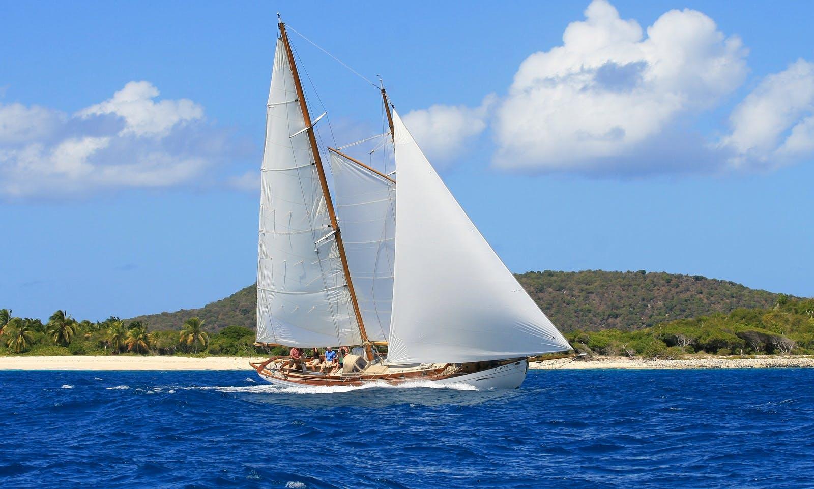 "Charer 65ft ""Heron"" Schooner in Port Elizabeth, Grenadines"