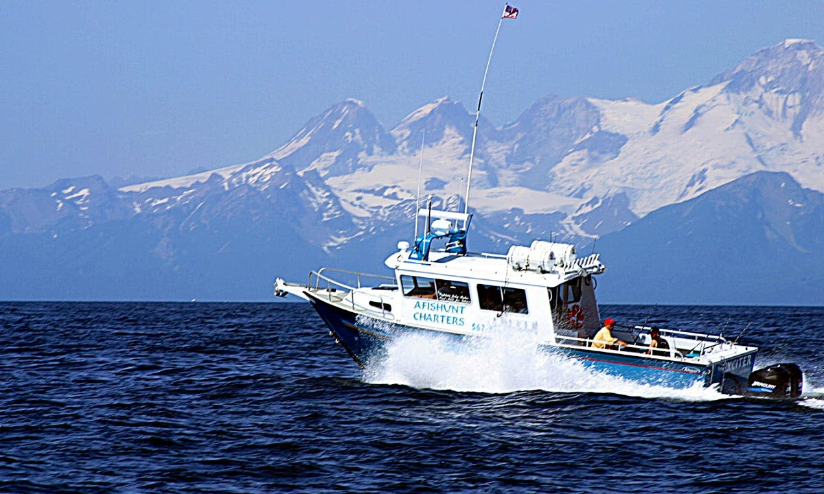 Enjoy Fishing On 34' Cuddy Cabin Charter in Ninilchik, Alaska