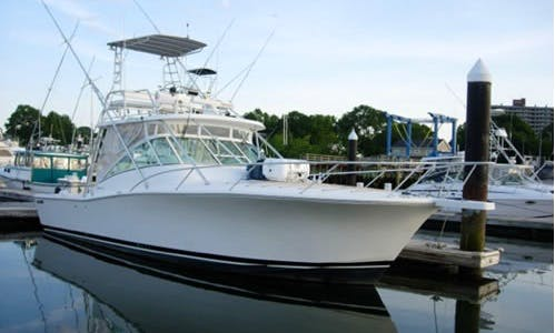 Fishing Charter On 32' Sport Fisherman In Quincy, Massachusetts