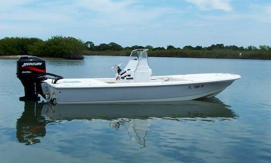Enjoy Fishing On 20ft Bass Boat In New Smyrna Beach, Florida
