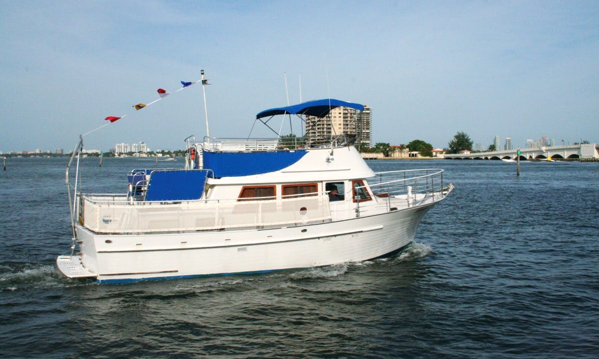 Enjoy 40' Motor Yacht Boat Charter in Miami
