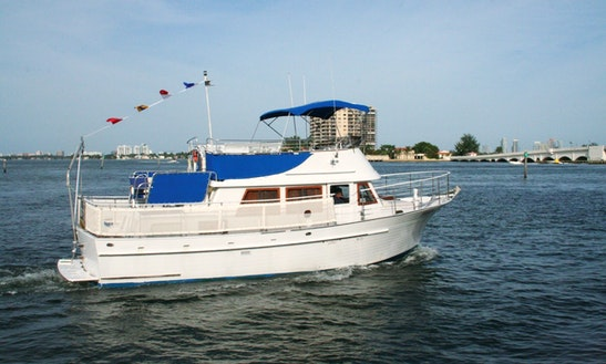 Enjoy 40' Motor Yacht Boat Charter In Miami