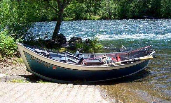 Rent this 16' Aluminum Drift Boat for Fishing in Sterling, Alaska