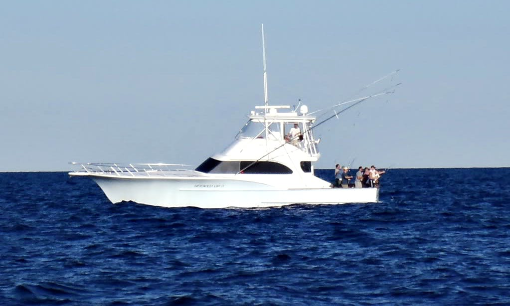 """55ft """"The HooKed Up II"""" Carolina Sport Fisherman Boat Charter in Cape May, New Jersey"""
