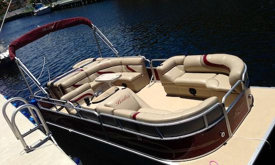 Rent 24' Pontoon Boat In North Miami Beach, Florida