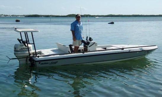 18' Skiff Fishing Rental In Tavernier, Fl