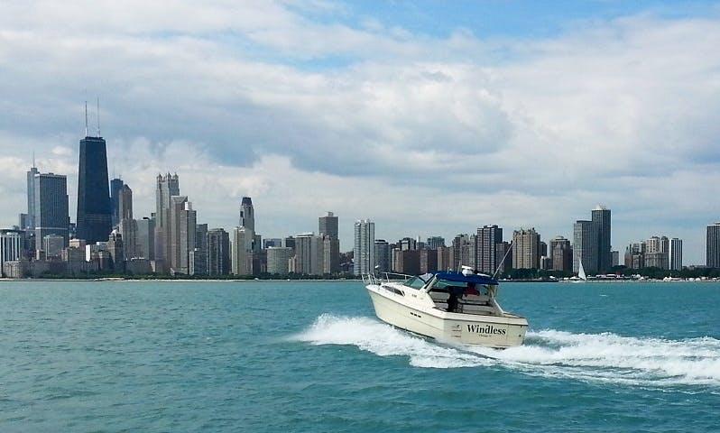 40' Sea Ray Express Cruiser on Chicago Shorline