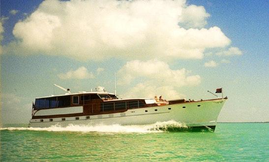 Charter 68ft Trumpy Motor Yacht In Key Largo, Florida