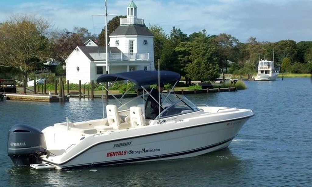 23ft pursuit bowrider boat rental in mattituck new york for Fishing boats nyc