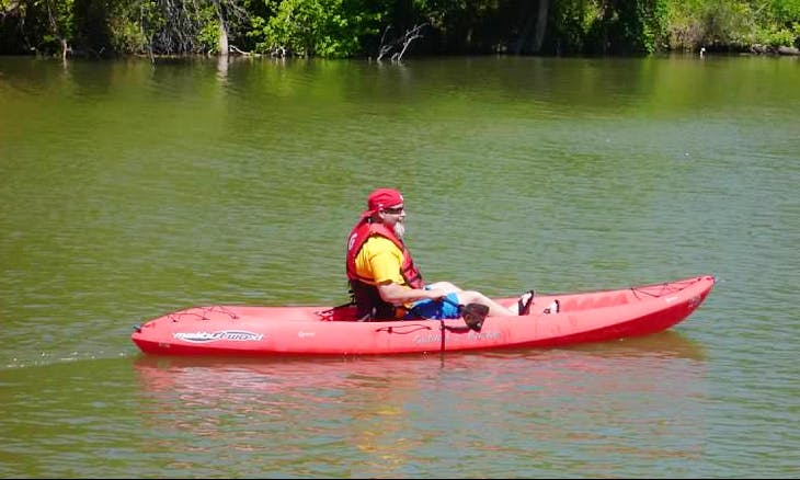 Explore Bosque River with Single-Person Kayak from Waco, Texas!