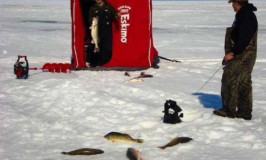 Fishing Charter Or Ice Fishing In Minnewaukan, Nd