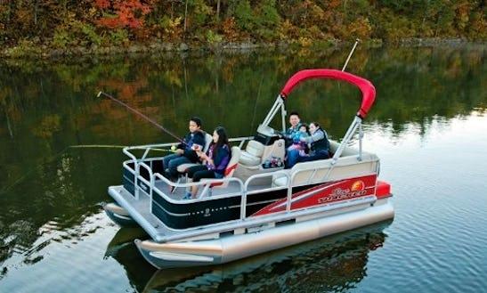 Rent 16' Fishing Pontoon Boat In Lake Pleasant, Ny